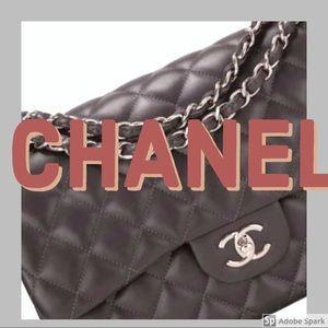 Authentic CHANEL Double flap classic quilted